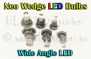 4x-Neo-Wedge-LED-Bulbs-T3-T4-T5-White-Blue-Red-Green-Amber