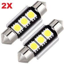 2 LAMPADINE SILURO 36mm 3 LED SMD 5050 NON DA ERRORE LUCI AUTO TARGA C5W CANBUS
