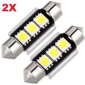2-LAMPADINE-SILURO-36mm-3-LED-SMD-5050-NON-DA-ERRORE-LUCI-AUTO-TARGA-C5W-CANBUS