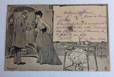 CPA. 1904. Illustrateur Henry MORIN. Invitation à une Tasse de Thé.