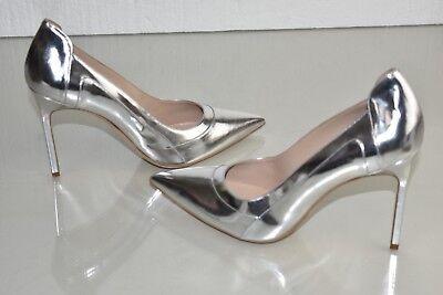 NEW Manolo Blahnik BB 105 Patent Silver