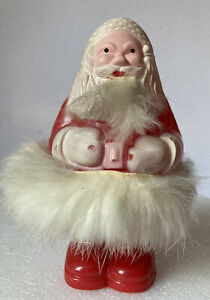 Vintage-Plastic-Santa-Candy-Container-Ornament-with-Fur