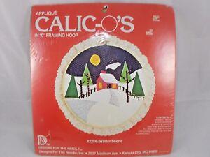 Designs for the Needle Applique Calic-o's #2206 Winter Scene
