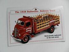 Danbury Mint 1938 BUDWEISER DELIVERY TRUCK  Brochure Pamphlet Mailer