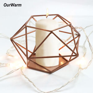 Gold-Metal-Candlestick-Geometric-Candle-Holder-Wedding-Tealight-Candle-Holder