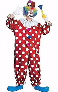 Adult-FUNNY-DOTTED-CLOWN-Circus-Crazy-Big-Top-Party-Fancy-Dress-Costume-Unisex