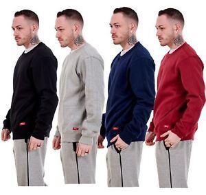 Mens Fleece Sweatshirts Branded Pullover Top Crew Neck Long Sleeve M to XXL