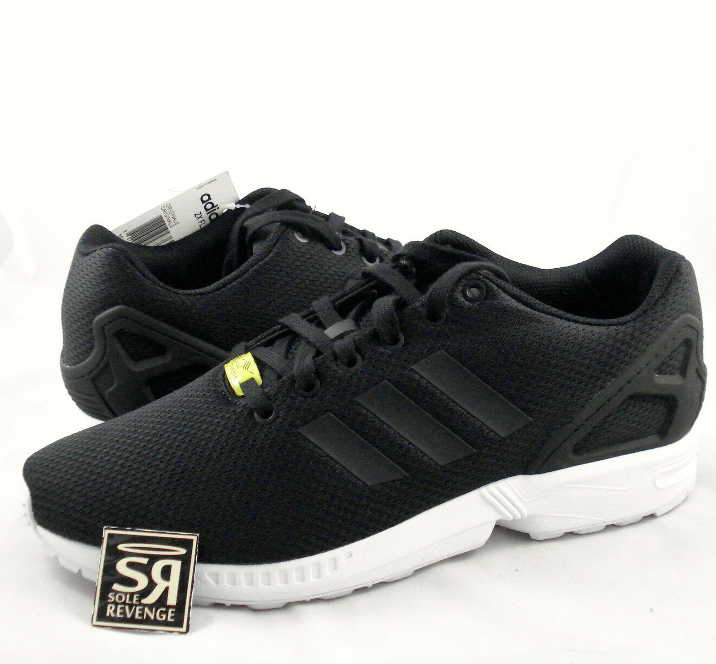 New 6.5 adidas Originals Mens ZX Flux Shoes Black White zxz flyknit 8000 yellow