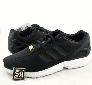 New adidas Originals Mens ZX Flux Shoes Black White zxz flyknit 8000 ... 8c0514dcb880