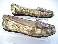 House Of Harlow 1960 Marion Beaded Flat Moccasins Rose Gold Size 6, 6.5,