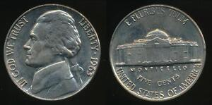 United-States-1963-P-5-Cents-Jefferson-Nickel-Uncirculated