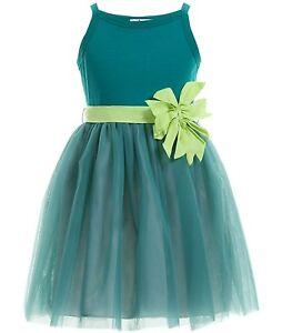 size 40 af0ee 41ee2 Details zu IL GUFO traumhaftes Kleid mit 3D Blume & Tüllrock in Jade grün  Gr.12/152 NEU%%%