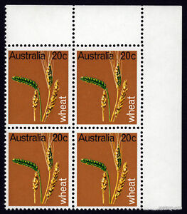 1969-Primary-Industries-BW505e-Flaw-MUH-Block-of-4-SG442-Mint-Australia-Stamps