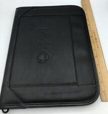 Wendys Restaurant Black Leather Portfolio Padfolio Folder Notepad Gemline 7x9