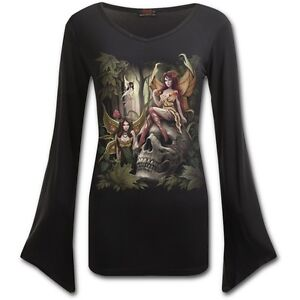 Spiral-Direct-Woodland-Fairy-Wings-Fantasy-Forest-Long-Sleeved-Flared-V-Neck-Top
