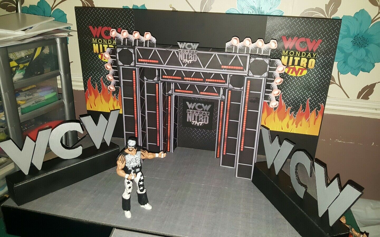 WCW Nitro entrance stage custom made for wrestling figures wwe wwe wwe wwf ecw 49ac82
