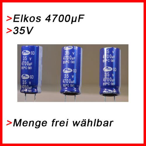 hasta 35v Elko condensadores 4700 µf 35v elkos elektrolytkondensator 4700µf UF