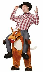 Cowboy Ride On Costume Carry Me Adult Mens Funny Horse ...