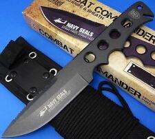 United Cutlery Combat Commander Navy Seals Edition Black Blade Full Tang Knife