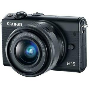 Canon-EOS-M100-15-45mm-24-2mp-3-034-DSLR-Camera-New-Cod-Agsbeagle