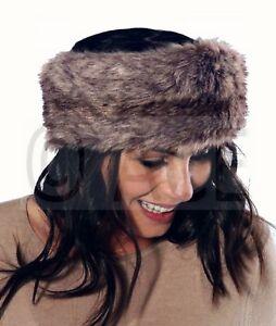 Details about Womens Ladies Wide Russian Animal Winter Warm Ear Muffs Faux Fur  Headband Wolf 31edb5c9cd3