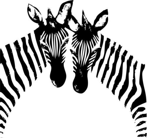 "Zebra Vinyl DecalStripes StickerChildren Nursery 20/""x20/"" Animal 24"