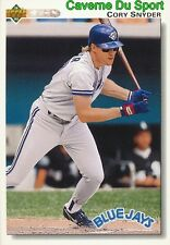504 CORY SNYDER TORONTO BLUE JAYS  BASEBALL CARD UPPER DECK 1992