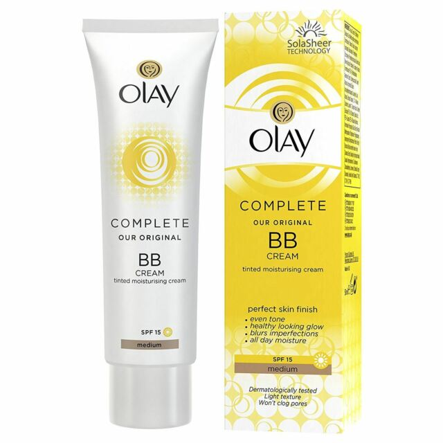 Olay BB Cream Medium Moisturiser SPF15 Max Factor Essentials Complete Care 50ml