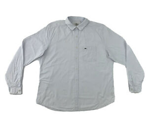 Lacoste-White-Dress-Shirt-Men-s-Size-44-XL-Long-Sleeve-Check-Button-Down