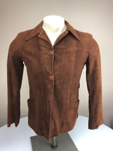 Vtg 40's-50's Levi Suede Leather  Jacket Cowboy We