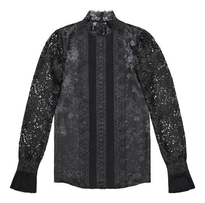 Nueva  azulsa de seda Erdem X H&M Jacquard Encaje Negro 2 4 6 Envío Hoy  precio al por mayor