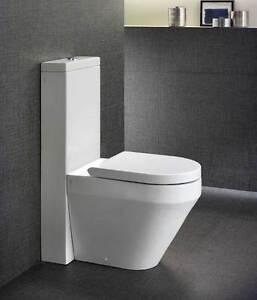 Sanitari bagno vaso bidet cassetta Monolith e sedile filomuro ...