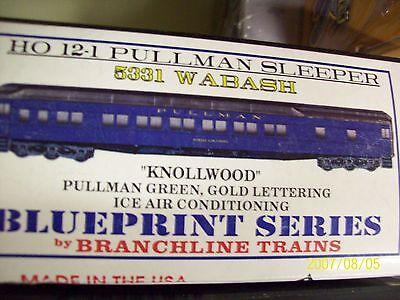"Branchline Blueprint 5332 Wabash /""Dorchester/"" Pullman Sleeper Kit! HO Scale"