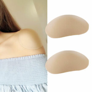 2Pcs Silicone Shoulder Pads Push-up Self-Adhesive Shoulder Enhancer Pad Soft