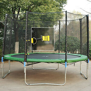 Aosom 14' Round Trampoline Enclosure Bounce Safety Net Frence Replacement