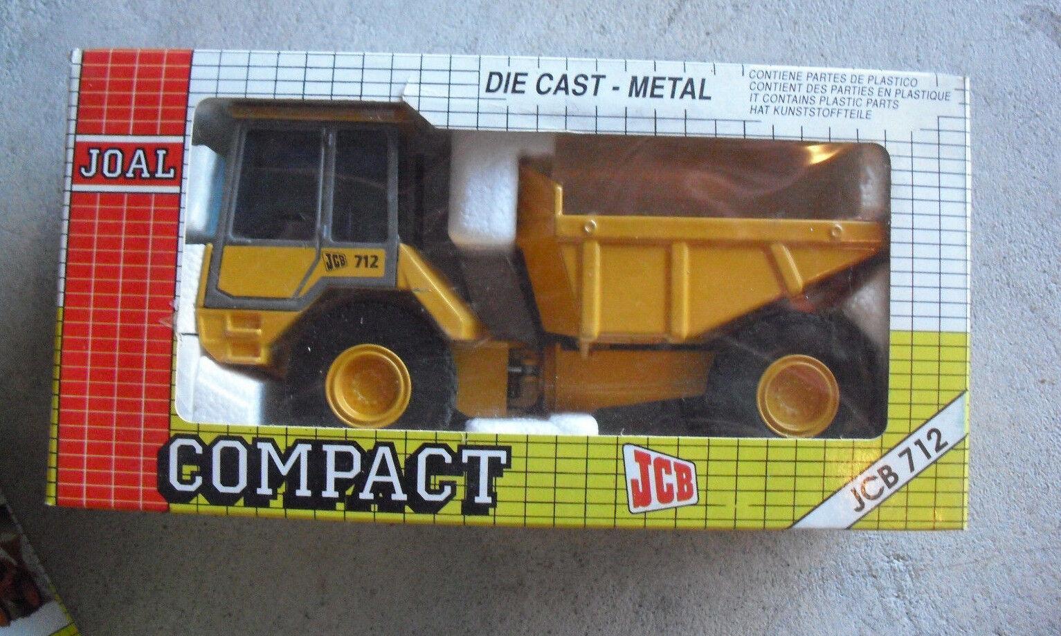 Vintage Joal Compact Diecast 1 35 Scale JCB 712 Dump Truck NIB 246