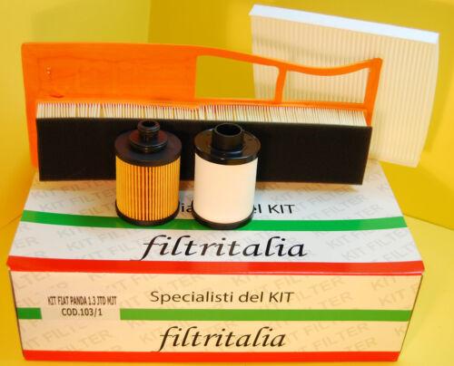 Mot. 188A9000 Set Filtri Tagliando 4 pezzi Fiat Panda 1.3 JTD Multijet 16v