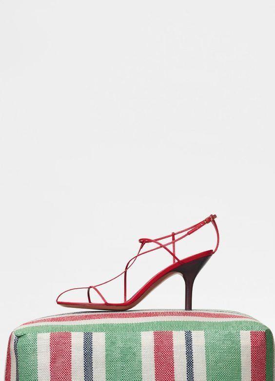 CELINE Nude Sandal Red Pop Cage Heels Resort 2018 Phoebe Philo HYPE 40.5 SOLDOUT