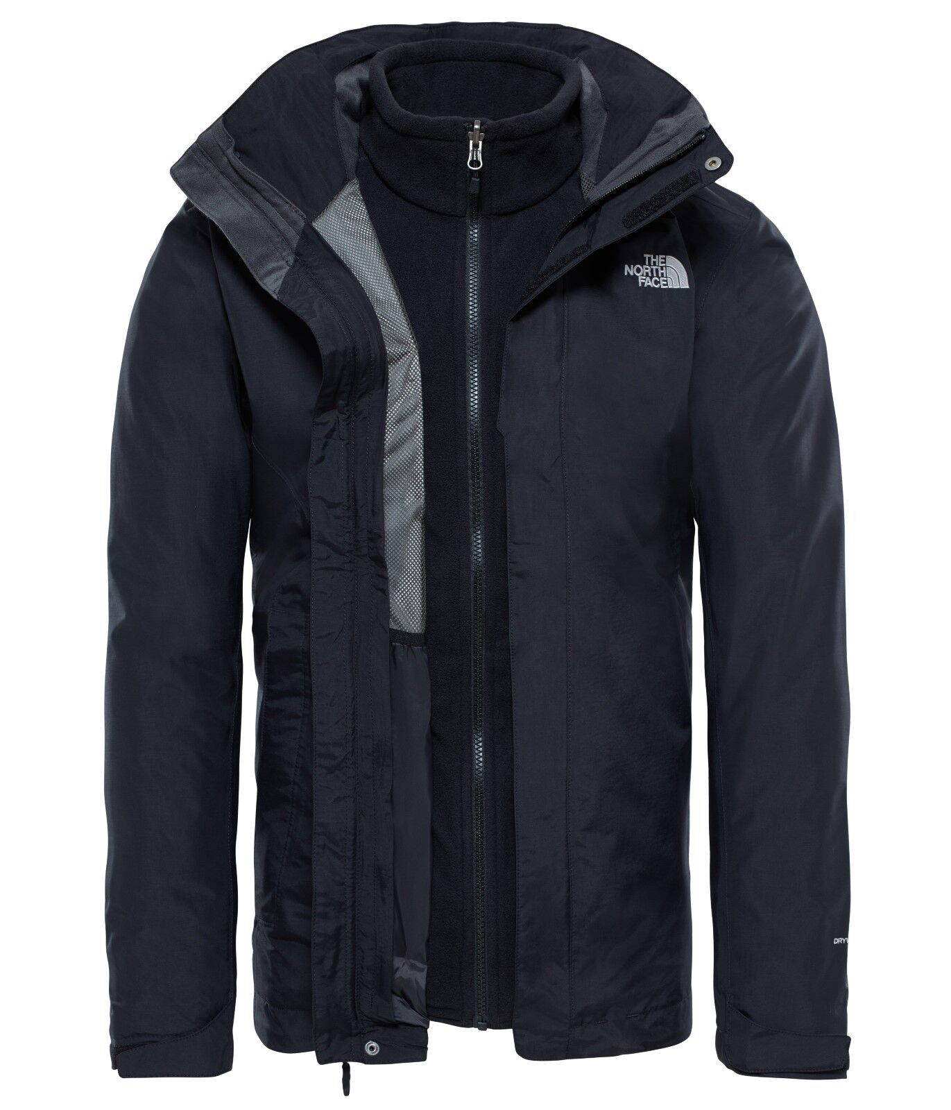 The North Face mens Evolution II triclimate Jacket señores doble chaqueta negro