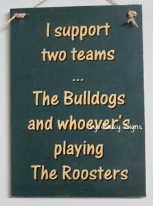 Canterbury-Bulldogs-v-Roosters-Retro-Footy-Sign-Jersey-Cards-Rugby-League-Etc
