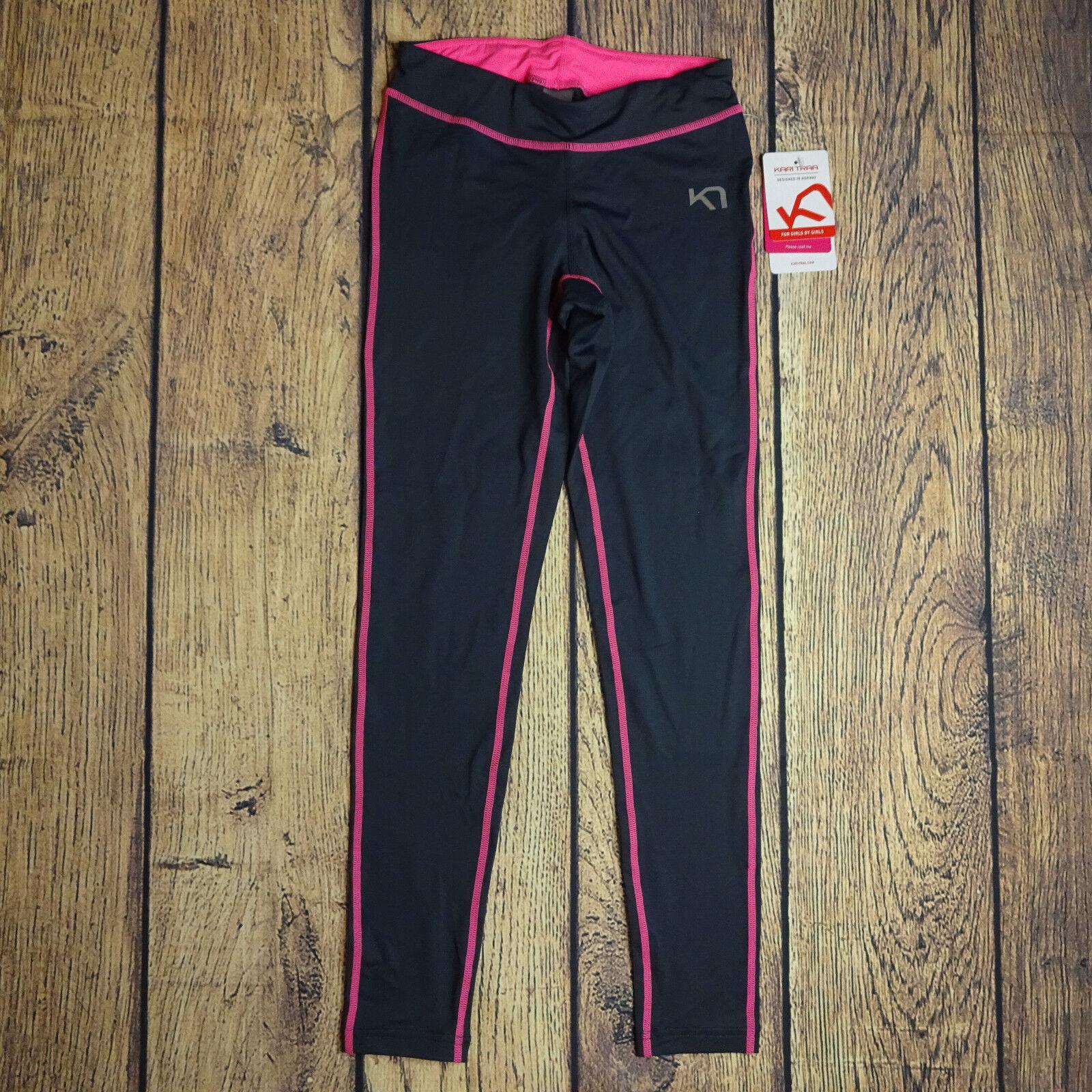 Kari Traa Medium Myrbla Tights Ebony rosa Gym Athletic NEW Norway