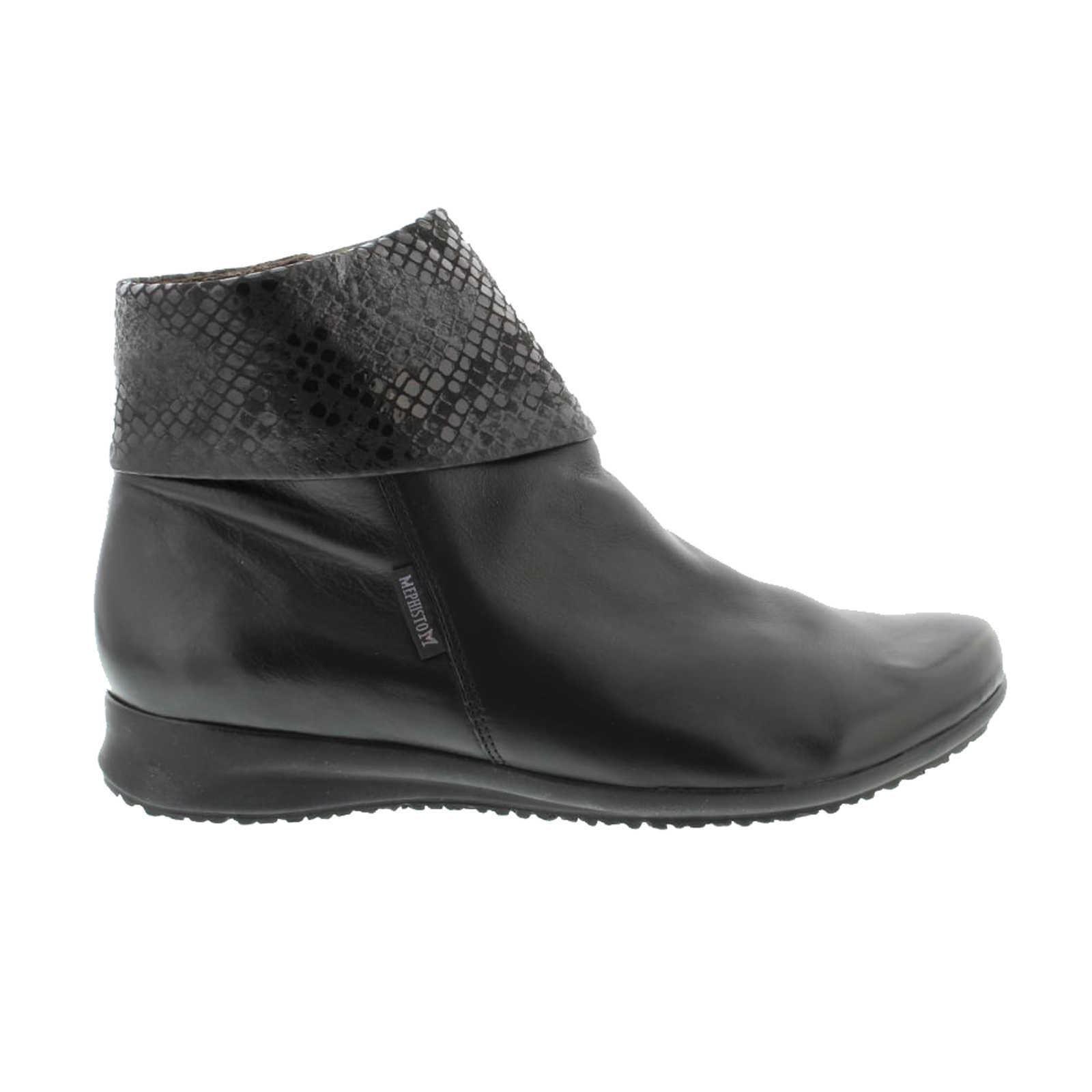 Mephisto Fiducia Black Womens Boots