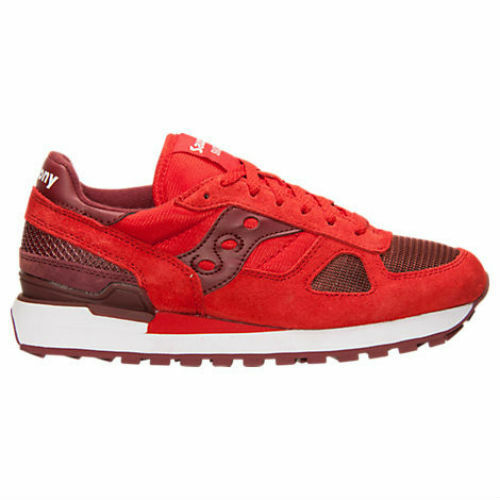 Homme Saucony Shadow Original Casual Chaussures S2018 Rouge/Burgandy NWT Classic