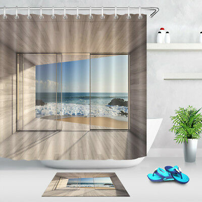 72x72 Beach House Bathroom Shower
