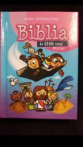Biblia-Para-Ninos-infantil-Mi-Gran-Viaje-Reina-Valera-1960-ROSA-034-Personalizada-034