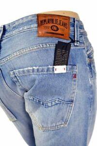 NUEVO-REPLAY-waitom-Jeans-M983-110-268-Azul-Claro-100-Algodon-L32-L34-L36