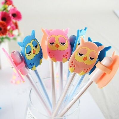 5pcs/Lot Cartoon Ball Pen Lovely Cute OWLS Gel pen for Kids School Office