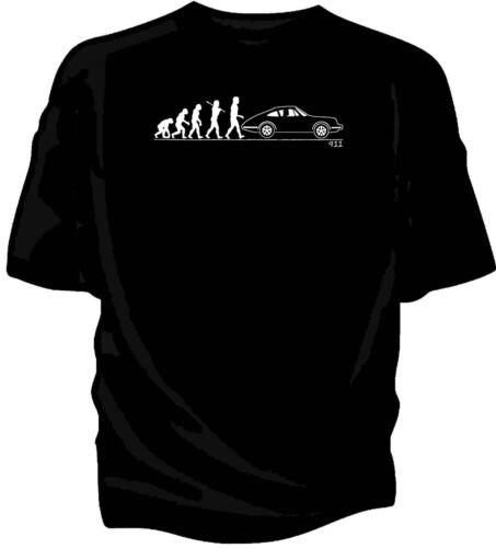 classic 911 Evolution of Man car t-shirt