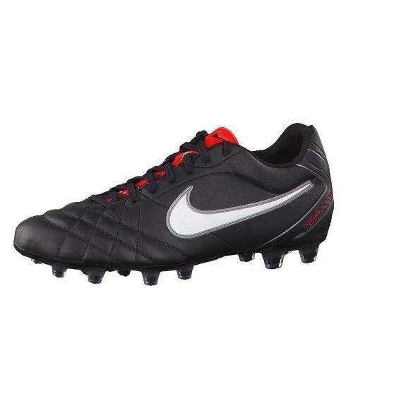 Gli uomini sono nike tiempo volo fg scarpini calcio da calcio scarpini nero / bianco / rosso pennino. 5ab80c