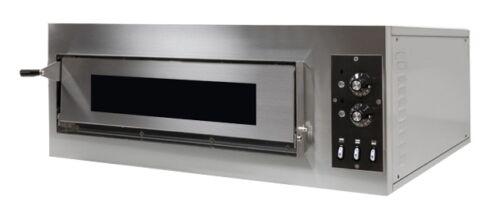 Pizzaofen Bistro Ofen Mini B1-50 F für 4 x Ø 25 cm Pizzen mit Fenster Gastlando